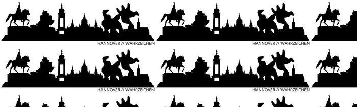 Tapeta Pixerstick Hannover Skyline // // Wahrzeichen Silhouette - Prázdniny