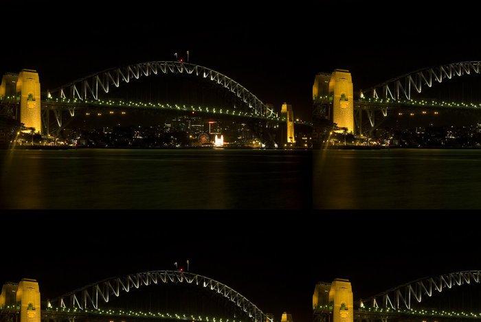 Vinylová Tapeta Harbour Bridge v noci - Oceánie