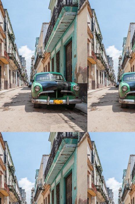 Tapeta Pixerstick Havana stará škola auto -