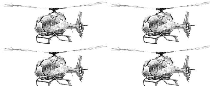 Vinylová Tapeta Helikoptéra - Vzduch