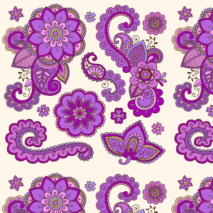 Tapeta Pixerstick Henna Mehndi Tetování Doodle vektorové prvky návrhu - Styly