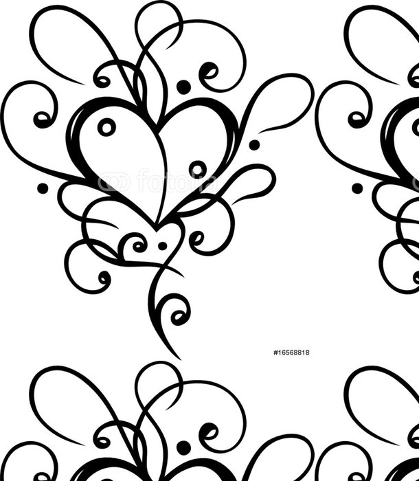 Tapeta Pixerstick Herz Tattoo, Tribal, Liebe, láska, filigran - Značky a symboly