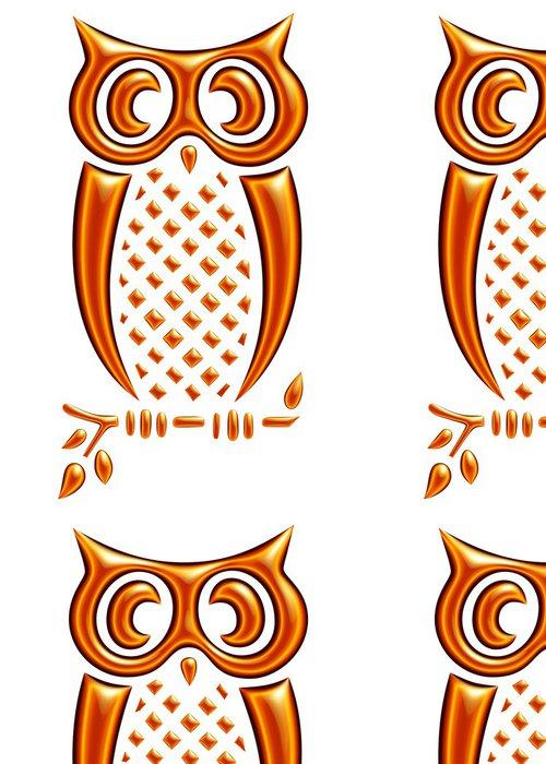 Vinylová Tapeta Hiboux žlutá oranžová reflets - Mezinárodní svátky