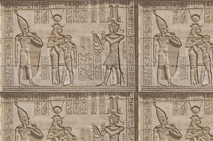 Tapeta Pixerstick Hieroglypic řezby na egyptské chrámu - Afrika