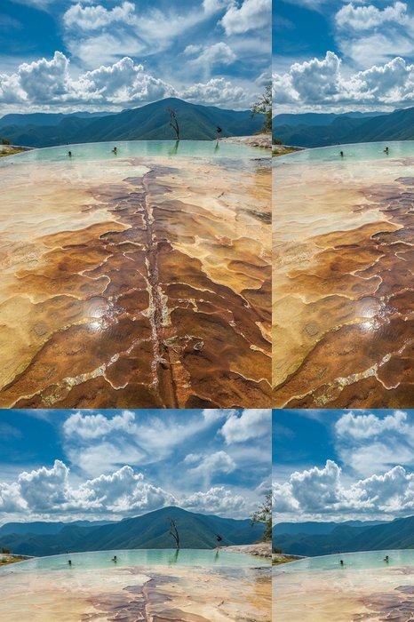 Tapeta Pixerstick Hierve el Agua, přírodní skalní útvary v mexickém státě - Amerika