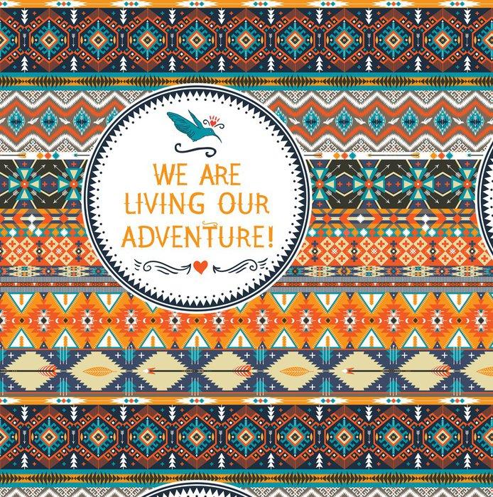 Vinylová Tapeta Hipster bezešvé barevné tribal vzor - Amerika