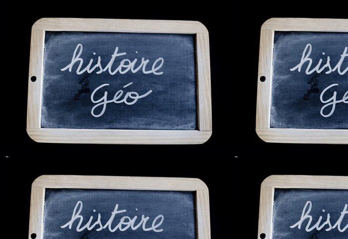 Tapeta Pixerstick Histoire geo - Vzdělávání