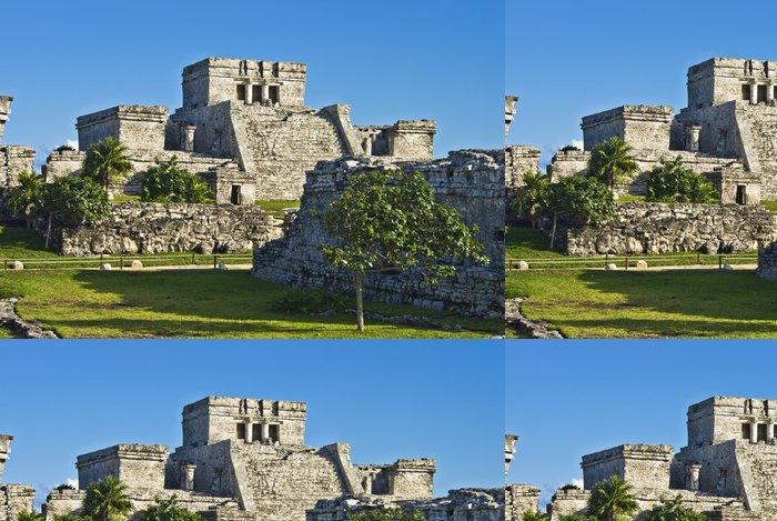 Tapeta Pixerstick Historické ruiny starověkého mayského města Tulum, Mexiko - Amerika