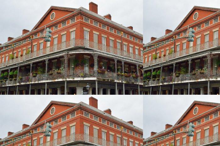 Tapeta Pixerstick Historisches Gebäude im French Quarter von New Orleans - Amerika