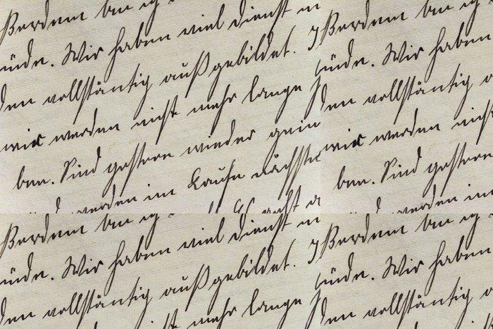 Tapeta Pixerstick Historisches Schriftbild auf Büttenpapier - Značky a symboly