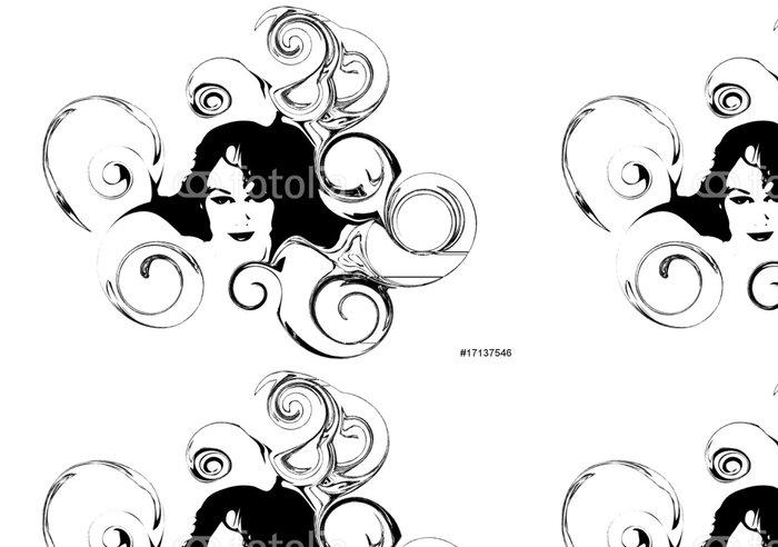Tapeta Pixerstick Hlava ženy - Životní styl, péče o tělo a krása
