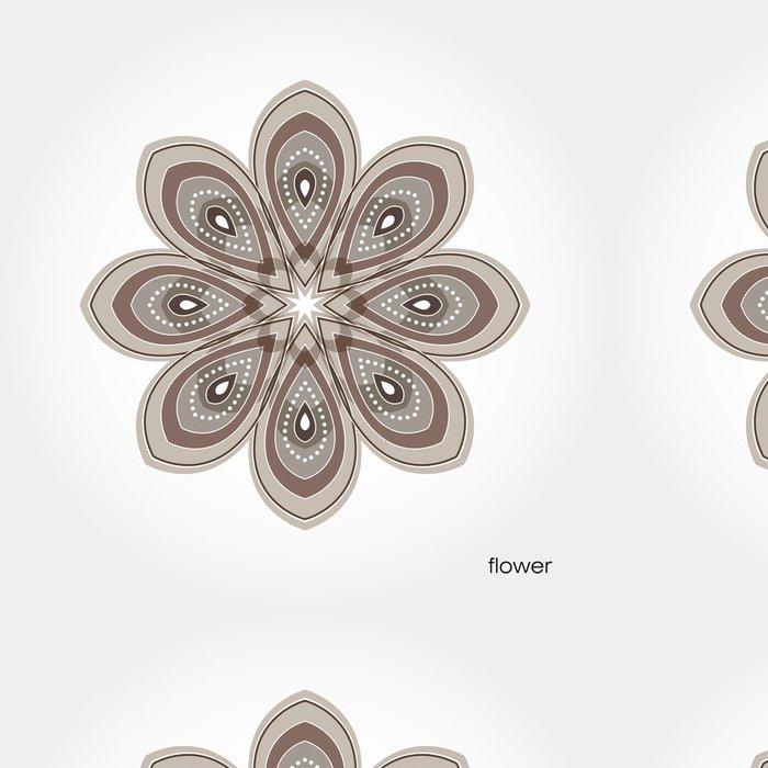Tapeta Pixerstick Hnědá s květinovými vzory na okvětních lístků - Květiny