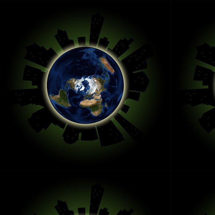 Vinylová Tapeta Hodina Země Concept: Globální Lights Out Event ve velkých městech - Ekologie