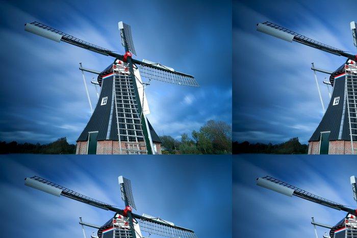 Tapeta Pixerstick Holandský větrný mlýn po obloze - Infrastruktura