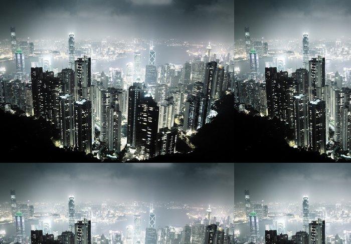 Tapeta Pixerstick Hong Kong ostrov z vrcholu Victoria v noci - Asijská města
