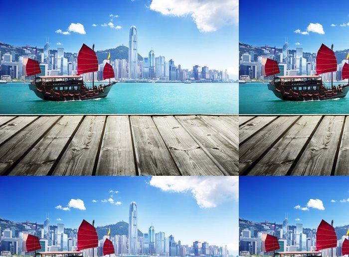 Tapeta Pixerstick Hong Kong přístav - Témata