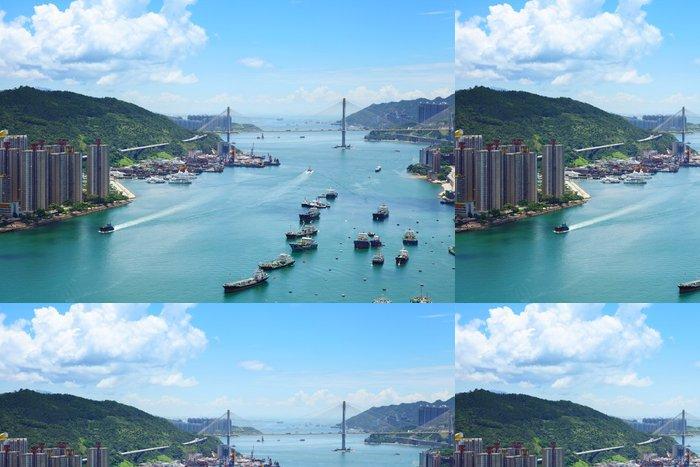 Tapeta Pixerstick Hong Kong Skyline - Asijská města