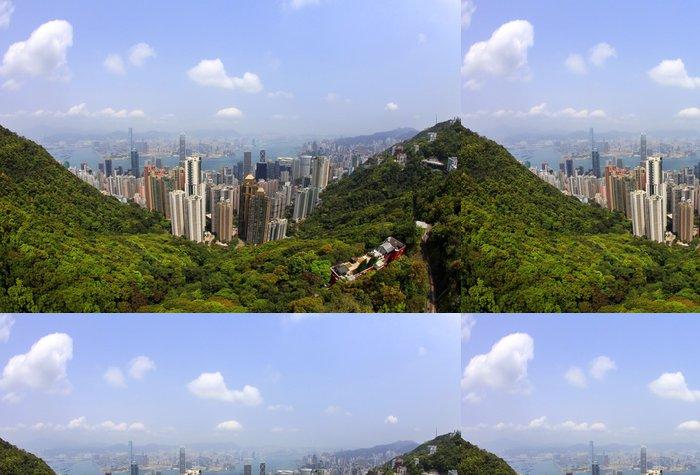 Tapeta Pixerstick Hong Kong Skyline - Asie