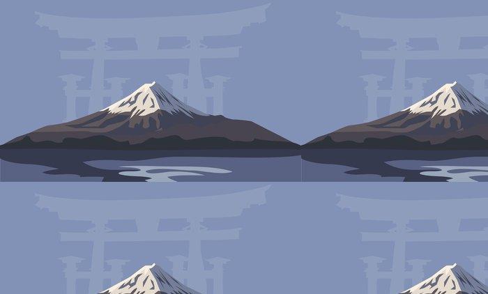 Tapeta Pixerstick Hora Fudži - Asie