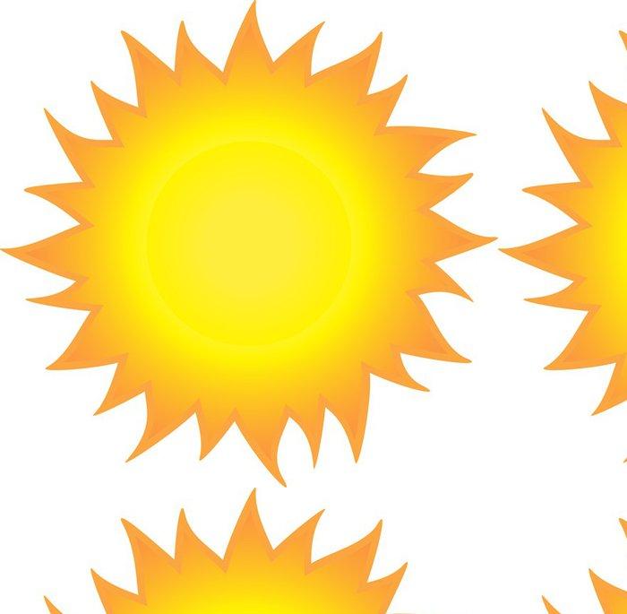 Tapeta Pixerstick Hořící slunce - Roční období