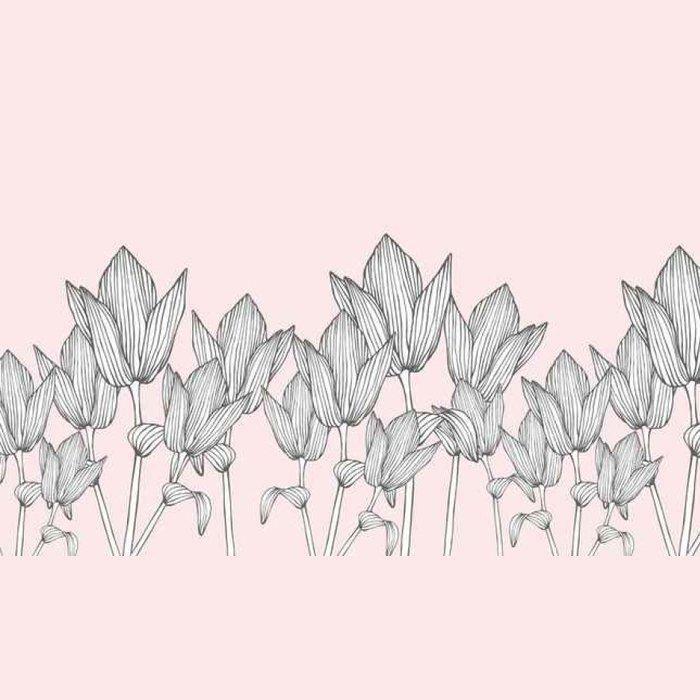 Tapeta Pixerstick Horizontálně bezešvé vektoru květinovým vzorem - Grafika