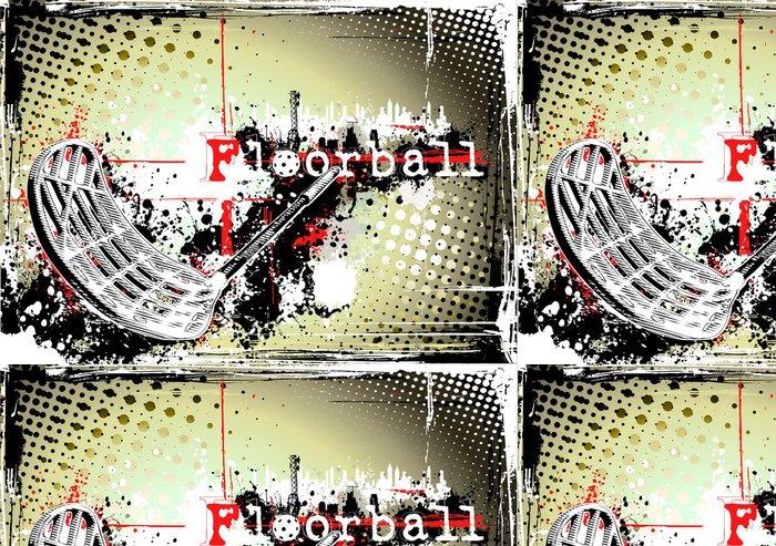 Tapeta Pixerstick Horizontální špinavé florbal plakát -