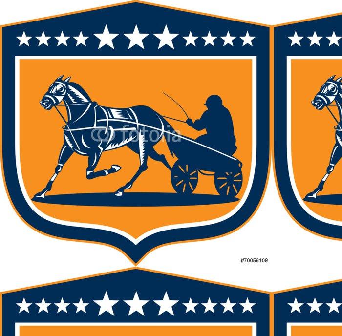 Tapeta Pixerstick Horse and Jockey Klusáci Shield Retro - Individuální sporty