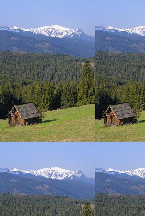 Tapeta Pixerstick Horská chata v Tatrách - Hory