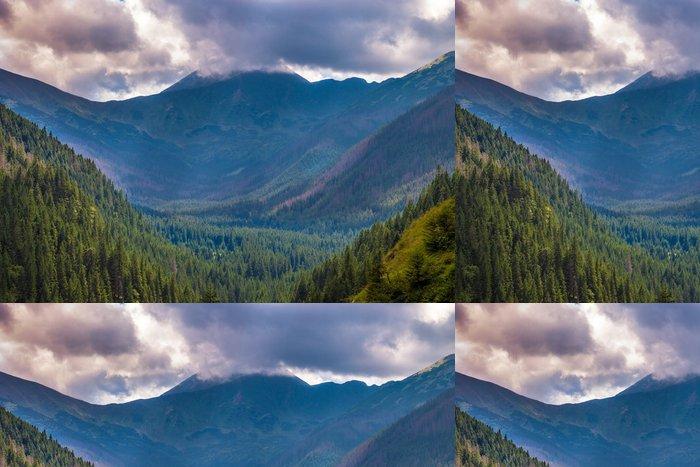 Tapeta Pixerstick Horská krajina v oblasti Tatranského národního parku, v Polsku. - Evropa