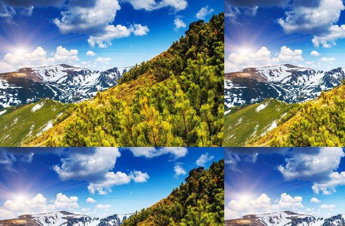 Tapeta Pixerstick Horská krajina - Roční období