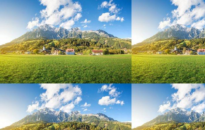 Tapeta Pixerstick Horská obec v Rakousku, Leogang - Outdoorové sporty