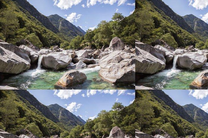 Tapeta Pixerstick Horská údolí - Outdoorové sporty