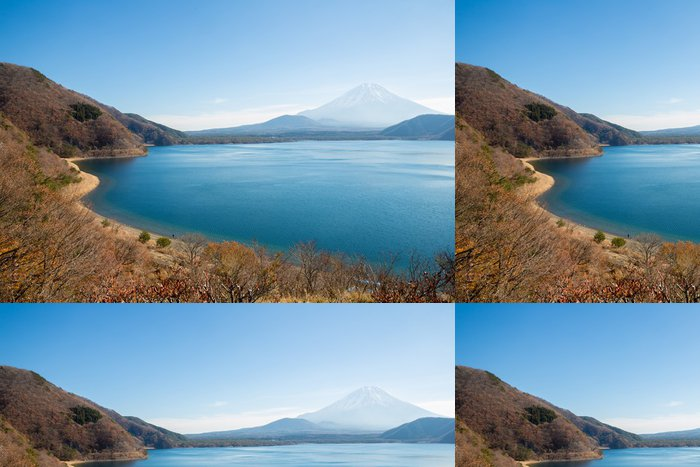 Tapeta Pixerstick Horské Fuji Lake Motosu Japonsko - Asie
