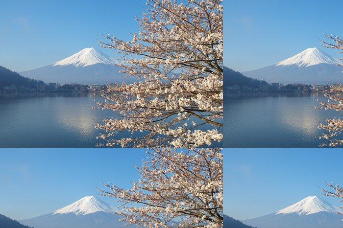 Tapeta Pixerstick Horské Fuji v třešňového květu sakura sezóny - Témata