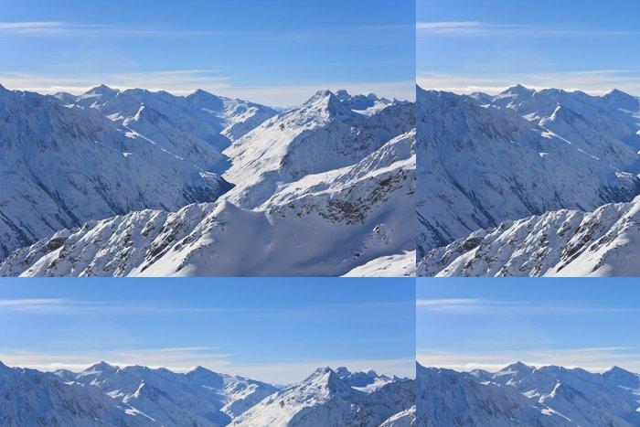 Tapeta Pixerstick Hory pod sněhem v zimě. Alpy. Sölden. Rakousko - Témata