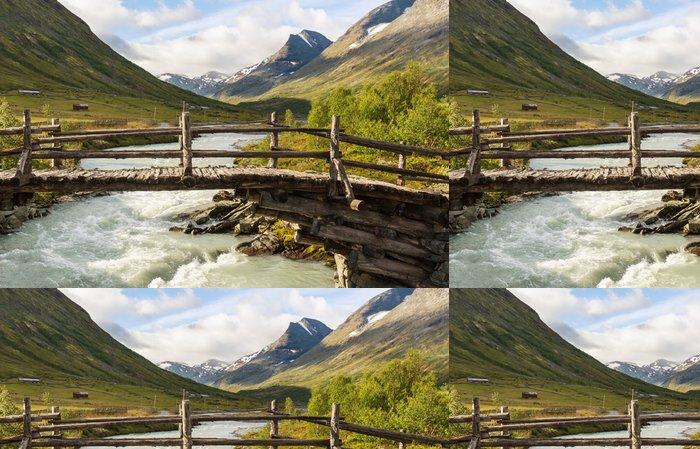 Tapeta Pixerstick Hory v Norsku - Příroda a divočina