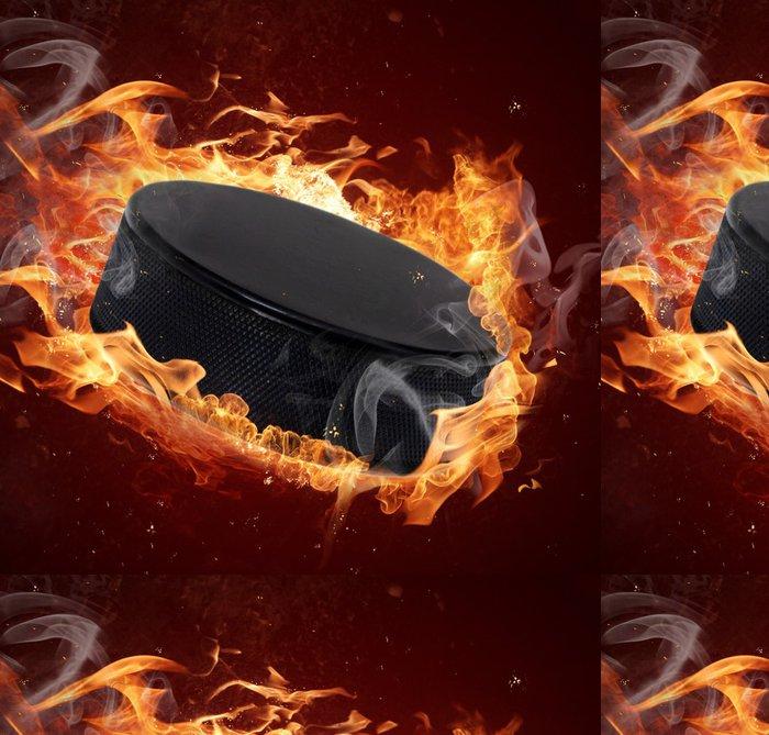 Tapeta Pixerstick Hot puk při požárech plamene - Sportovní potřeby