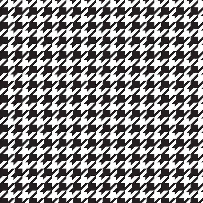 Tapeta Pixerstick Houndstooth bezešvé vzor - Pozadí