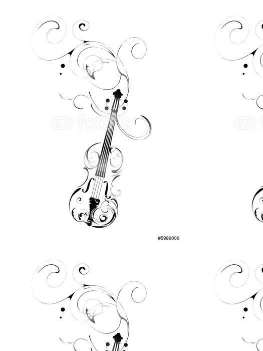 Vinylová Tapeta Housle - Hudba