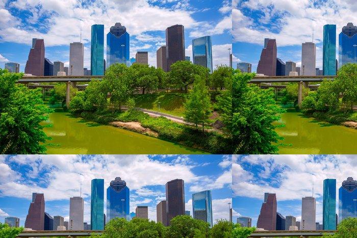 Tapeta Pixerstick Houston Texas Skyline s moderními mrakodrapy - Amerika