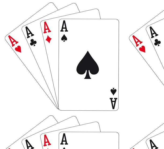 Tapeta Pixerstick Hrací karty - čtyři esa - Nálepka na stěny