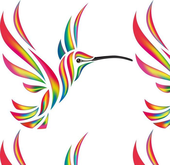 Tapeta Pixerstick Hučení-pták oheň - Nálepka na stěny