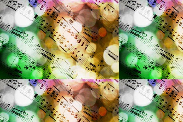 Tapeta Pixerstick Hudební skóre s texturou - Hudba