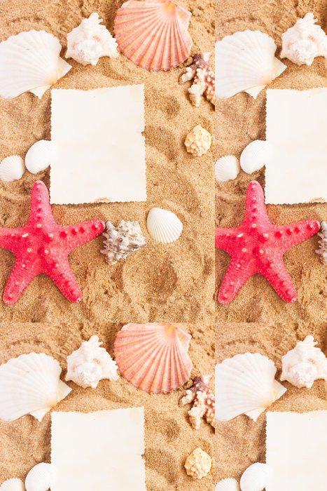 Tapeta Pixerstick Hvězdice ans mušle rám na písku - Prázdniny