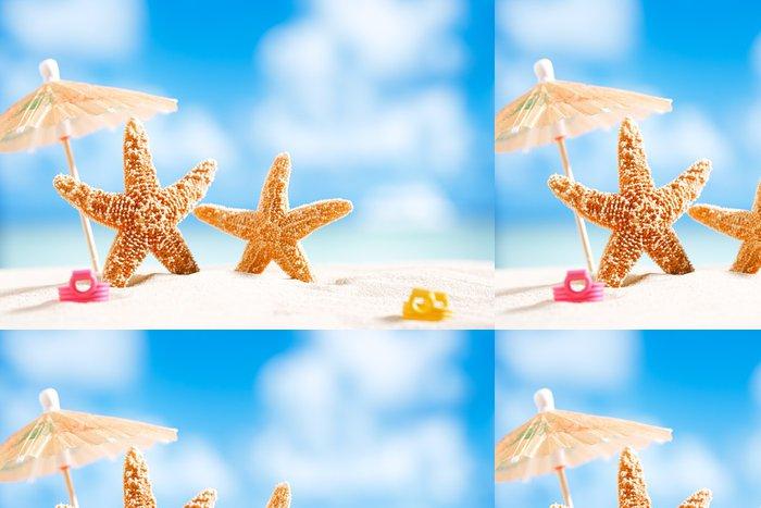 Tapeta Pixerstick Hvězdice s výhledem na oceán, pláže a přímořská krajina - Prázdniny