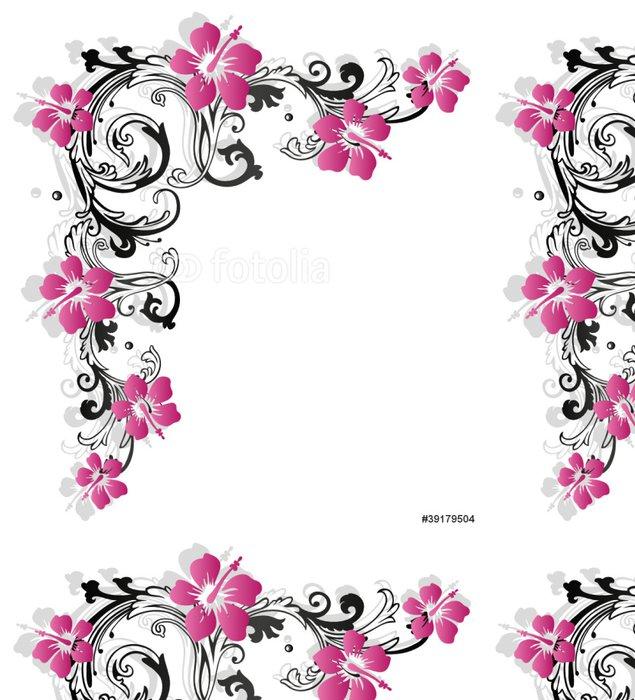 Tapeta Pixerstick Hybiscus, ibišek, Ranke, flóry, Blumen, růžová - Nálepka na stěny
