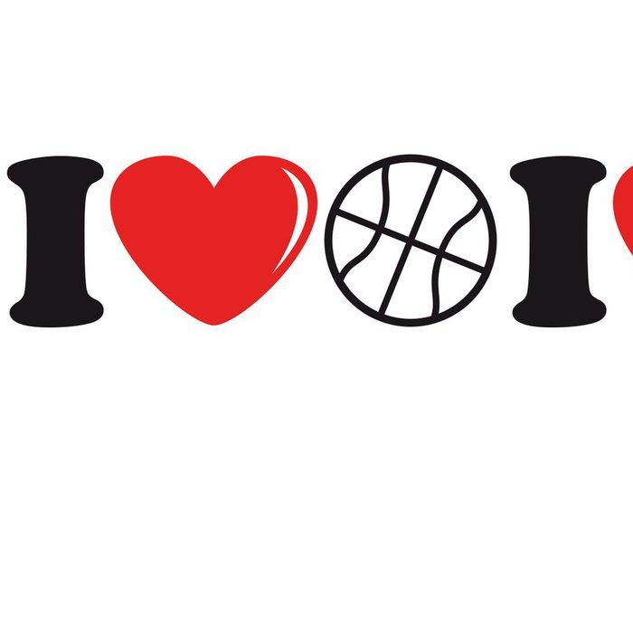 Tapeta Pixerstick I_love_basketball_2c - Týmové sporty