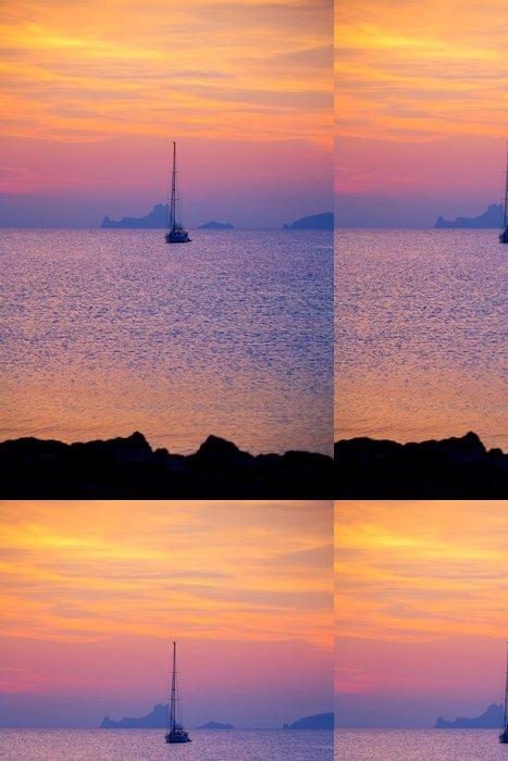 Tapeta Pixerstick Ibiza západ slunce pohled z ostrova Formentera - Prázdniny