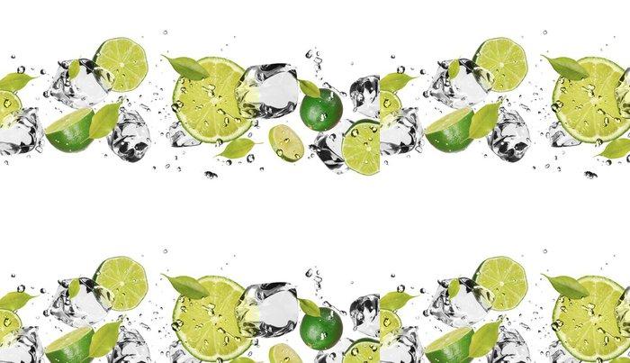 Tapeta Pixerstick Ice ovoce na bílém pozadí - Voda
