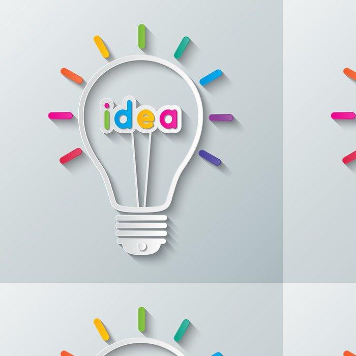 Tapeta Pixerstick Idea žárovka - Prvky podnikání